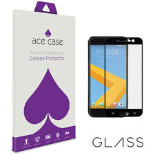 HTC 10 Tempered Glass Screen Protector FULL 3D Edge to Edge Coverage BLACK