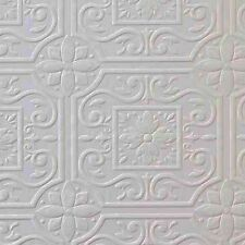 Faux Tin Ceiling Tile Textured Paintable Wallpaper 148-59001 DOUBLE ROLL