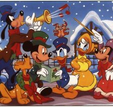 WALT DISNEY. CAROLERS,MICKEY,PLUTO,GOOFY,ETC,COLLECTIBLE CHRISTMAS GREETING CARD