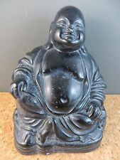 "Vintage Estate Find FJCO Products Buddha Smiling Happy Sitting 4.75"" Figurine"