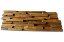 Teak Old Oak Wall Facing Bricks Paneling Panel Wall Tile Strapy Wood Decoration