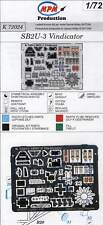MPM SB2U-3 Vindicator Cockpit Seatbelts PE-Set Ätzteile 1:72 Modell-Bausatz kti