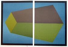 Sol LeWitt Original 2 Piece Lithograph, Noise Art Revue, Maeght, Paris, 1989