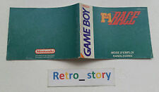 Nintendo Game Boy F-1 Race Notice / Instruction Manual