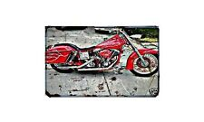 Fxe Shovelhead Motorbike A4 photo Retro Bike