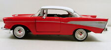 "Motor Max 1957 Chevy Bel Air 1:24 scale 8"" diecast model car Red M06"