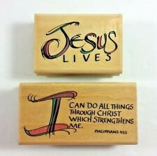 I Can Do All Things Jesus Lives Rubber Stamps Uptown Rubber Stamp Bible Verse