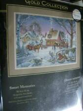 Dimensions Sweet Memories Cross Stitch Kit 16x11 Inches Winter Scenery