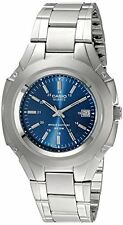 Casio MTP3050D-2AV Mens Blue Analog Watch Stainless Steel 10 Year Battery NEW