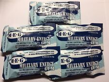 Military Energy Gum 5 Pack 5 Pcs/pack Arctic Mint 100 Mg Caffeine/piece