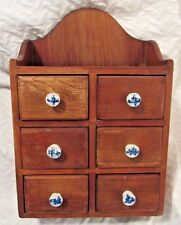 Vintage Carl Forslund Cherry Wood Spice Cabinet Drawers Apothecary Chest RARE