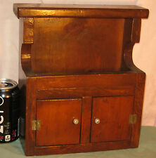Antique Salesman Sample HOODED DRY SINK Child's Cupboard Pine Folk Art Furniture