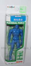 Takara Japan Microman Material Force Male Blue Poseable Body Figure Boxed