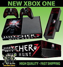 Console xbox one sticker the witcher Wild Hunt logo loup peau & 2 pad skins