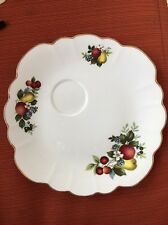 Rosina Queens Snack Plate Only w/ Fruit & Flowers Bone China England: