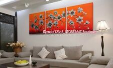YH693 3pcs Hand painted Oil Canvas Wall Art home Decor abstract flowers NO Frame