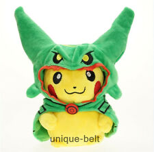 New Pokemon Center Pikachu in Rayquaza Poncho Soft Stuffed Plush Doll Toy 9""