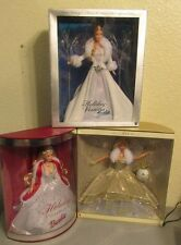 2001 & 2000 Barbie Celebration Teresa & 2003 Winter Fantasy Holiday Visions NIB