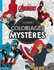 Marvel Avengers Adult Colouring Book French By Number Comic Superhero Hero Art