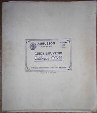 AUBUSSON - GUIDE SOUVENIR AOUT 1935 - CATALOGUE OFFICIEL - DESSINS G. ROUGIER