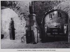 1975  --  L INTERIEUR DE SAINT PIERRE A SAULGES   3F021