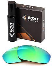 Polarized IKON Iridium Replacement Lenses For Oakley Split Jacket Emerald Mirror