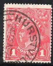 AUSTRALIA 1914 1d RED N-Y OF PENNY JOINED USED