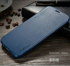Slim Genuine Leather Flip Wallet Case Stand Cover For Samsung Galaxy Models S001