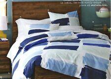 West Elm Blue Paint Brush Water Beach House Twin Duvet Shams Bedding Quilt Set