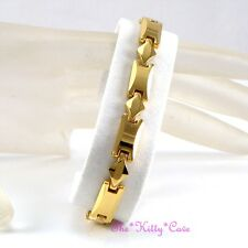 Magnetic Tungsten Arthritis CTS RSI Pain Relief Ladies Slim 24K Gold PL Bracelet