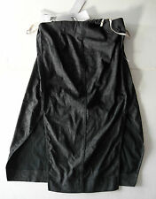 rick owens GREY PAINTED CRACKED denim DRESS it44 usa10 NEW $1300
