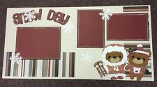 SNOW DAY Scrapbook Layout 2 page 12x12