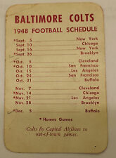 1948 Baltimore Colts Football Schedule Capital Airlines Travel AAFC