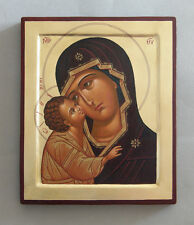 Hand painted orthodox icon of Virgin Mary