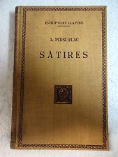 Escriptors Llatins,Satires,A.Persi Flac,F.Bernat Metge 1954