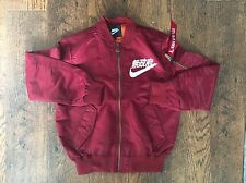 JAPAN NIKE FLIGHT AIR TOKYO BOMBER JACKET SIZE LARGE RED MAROON URBAN ANARCHY