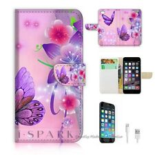iPhone 6 Plus (5.5') Flip Wallet Case Cover! S8079 Butterfly