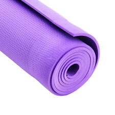 "Purple 68 x 24 x 0.24"" 6mm Thick Non-Slip Yoga Mat Exercise Fitness Lose Weight~"