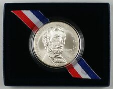 2009 Abrahan Lincoln Commem UNC Silver Dollar Coin in Original Mint Packaging