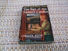 VINTAGE NANCY DREW MYSTERY STORIES THE SIGN OF THE TWISTED CANDLES  DJ  25  CHA