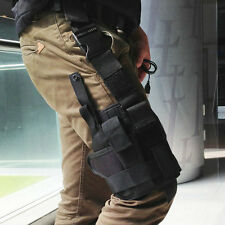 600D Polyester Wrap-around Tactical Puttee Thigh Leg Pistol Gun Holster Pouch EA