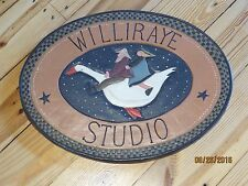 Williraye Studio - Large Oval Sign - Point of Purchase Display for Retailers