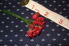 *25 Red Rose Buds* Miniature Flowers Barbie / Dollhouse