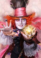 ALICE IN WONDERLAND MAD HATTER ART IMAGE A4 Poster Gloss Print Laminated