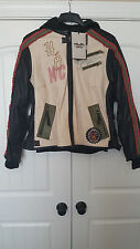 Harley Davidson Womens Off White Leather Pacer 3 in 1 Jacket  97126-13VW xl/1w
