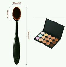 Oval Makeup Brush + 15 Colours Concealer Palette