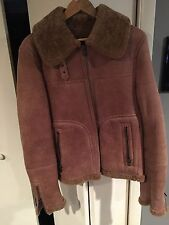 Bruno Magli Bomber Length Shearling Jacket US 42 MADE IN ITALY!  MRSP $2,495