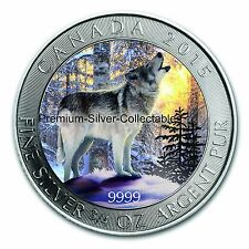 "2015 Canada Grey Wolf Series - Coin 2 of 4 ""Spring"" 3/4 Ounce Pure Silver .9999!"