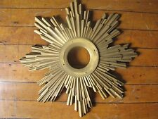 LG ANTIQUE CAST BRONZE ART DECO STARBURST ATTRIBUTED TO CALDWALL (4786)