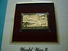 BATTLE FOR LEYTE GULF JAPAN 1944 WORLD WAR II 22KT GOLD STAMP COMMEM #13